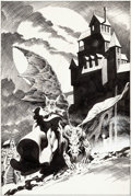 Original Comic Art:Splash Pages, Bernie Wrightson House of Mystery #225 Splash Page 1Original Art (DC, 1974)....