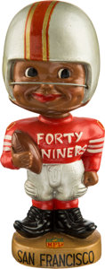 Football Collectibles:Others, 1962-64 San Francisco 49ers Black Toes Up Nodder. ...