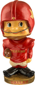 Football Collectibles:Others, 1961-62 Dallas Texans AFL Toes Up Nodder....