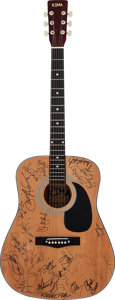 Music Memorabilia:Autographs and Signed Items, Country Music Stars Signed Guitar (1999). ...