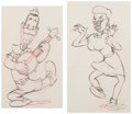 Animation Art:Production Drawing, Mother Goose Goes Hollywood Joe E. Brown and Martha RayeAnimation Drawing Group of 2 (Walt Disney, 1938). ... (Total: 2 )