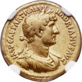 Ancients:Roman Imperial, Ancients: Hadrian (AD 117-138). AV aureus (19mm, 7.12 gm, 7h).  NGC VF 5/5 - 3/5, Fine Style....
