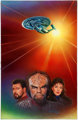 Keith Birdsong Star Trek: The Next Generation: Triangle: Imzadi II Hardcover Novel Cover Painting Original Art (Po