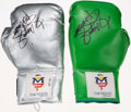 Boxing Collectibles:Autographs, Manny Pacquiao Signed Boxing Gloves Lot of 2....