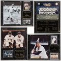 Baseball Collectibles:Photos, New York Yankees Commemorative Plaques (Lot of 4)....