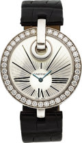 Estate Jewelry:Watches, Cartier Lady's Diamond, White Gold Captive de Cartier Watch. ...