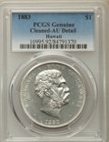 Coins of Hawaii , 1883 $1 Hawaii Dollar -- Cleaned -- PCGS Genuine. AU Details. NGC Census: (37/203). PCGS Population: (80/228). CDN: $900 Wh...