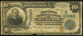 National Bank Notes:Tennessee, Memphis, TN - $10 1902 Date Back Fr. 623 The Mercantile NB Ch. #(S)10540. ...