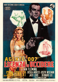 "Dr. No (United Artists, 1962). Italian 4 - Fogli (55"" X 78"") Averardo Ciriello Artwork"