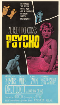 "Psycho (Paramount, 1960). Three Sheet (41"" X 78.25"")"