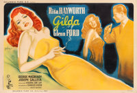 "Gilda (Columbia, 1946). French Double Grande (62.75"" X 92.75"") Boris Grinsson Artwork"