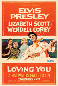 """Loving You (Paramount, 1957). Poster (40"""" X 60"""") Style Z"""
