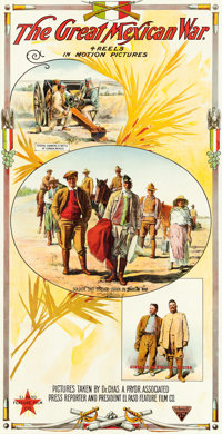 "The Great Mexican War (El Paso Film Company, 1914). Three Sheet (41.75"" X 82"")"