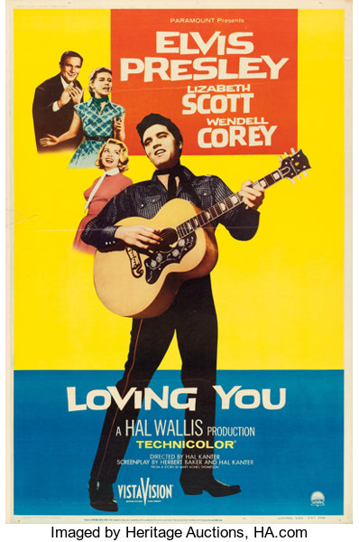 Loving You Paramount 1957 Poster 40 X 60 Style Y