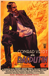 "Rasputin, Demon with Women (Tobis, 1932). German Poster (35"" X 55"")"