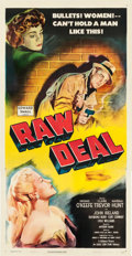"Movie Posters:Film Noir, Raw Deal (Eagle Lion, 1948). Three Sheet (41"" X 81.5"").. ..."