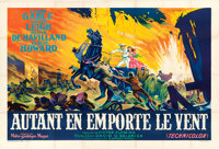 "Gone with the Wind (MGM, R-1954). Horizontal French Double Grande (63"" X 92.5"") Roger Soubie Artwork"