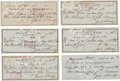 Boxing Collectibles:Autographs, 1920's-40's Jack Sharkey Signed Checks Lot of 170....