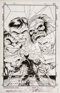 Original Comic Art:Covers, Paul Pelletier and Steve Moncuse Cutting Edge #1 Cover HulkOriginal Art (Marvel, 1995)....