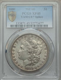 Morgan Dollars, 1880 $1 8 Over 7 Spikes, VAM-6, XF45 PCGS Secure. PCGS Population: (33/118 and 0/0+). NGC Census: (0/0 and 0/0+). CDN: $30 ...