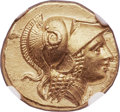 Ancients:Greek, Ancients: MACEDONIAN KINGDOM. Alexander III the Great (336-323 BC).AV stater (18mm, 8.60 gm, 9h). NGC Choice MS 5/5 - 5/5, FineStyle....
