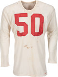Football Collectibles:Uniforms, Mid to Late 1950's Chicago Cardinals Game Worn Jersey....