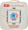 Basketball Collectibles:Others, 1984 Michael Jordan Signed Olympic Seat Cushion. ...