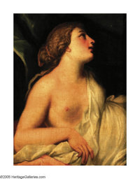 Attributed to GEORGE ROMNEY (British 1734-1802) Bacchante Oil on canvas 29in. x 22in. Exhibition: Chrysler Museum of