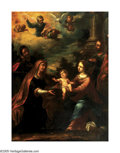 Old Master:Italian, ITALIAN SCHOOL (18th Century). Madonna with Baby Jesus. Oilon canvas. 39.5in. x 30in.. ...