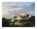 19th Century European:Landscape, FRANCOIS VANDERVERDONCK (Belgian 1848-1875). Pastoral Scenes(pair), 1871. Oil on board. 7in. x 9.5in.. Signed and dated...(Total: 2 Items)