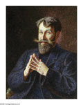 Impressionism & Modernism:post-Impressionism, GEORGES LACOMBE (French 1868 - 1916). Portrait of PaulRanson. Oil on canvas. 26in. x 20in.. Signed with monogramlower ...
