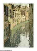 Impressionism & Modernism:post-Impressionism, JACQUES MARTIN-FERRIERES (French 1893-1972). Venetian Canal,1926. Oil on canvas. 32in. x 21in.R ★ igned and dated lower ...