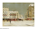 Impressionism & Modernism:French Impressionism, MAURICE UTRILLO (French 1883-1955). Winter Scene,Montmartre. Oil on panel. 10.75in. x 14in.. Signed lower left.Provena...