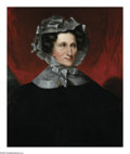 Paintings, AMERICAN SCHOOL (19th Century). Portrait of a Woman. Oil on canvas. 30in.x 25.5in.. ...