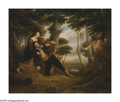 Paintings, WILLIAM RICKARBY MILLER (American 1818-1893). Romantic Scene, 1816. Oil on canvas. 25in.x 30in.. Signed and dated lower ...