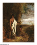 American:Hudson River School, ROBERT WALTER WEIR (American 1803-1889). Last of theMohicans. Oil on canvas. 40in.x 49in.. Signed and titled onreverse...