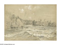 American:Hudson River School, JOHN HENRY HILL (American 1839-1922). River Rapids. Mixedmedia on paper. 7in. x 10in.. ...