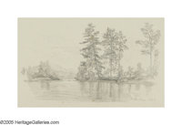 JOHN HENRY HILL (American 1839- 1922) Turtle Island, Sept 4 Pencil drawing 5in. x 9.25in. Signed lower right
