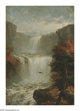 JEROME THOMPSON (American 1814-1886) Catskill Cascades,1885 Oil on board 14in.x 10in. Signed lower right This paint