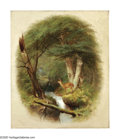 American:Hudson River School, WILLIAM HOLBROOK BEARD (American 1824-1900). Deer By a ForestBrook, 1862. Oil on canvas. 24in. x 20in.. Signed and date...