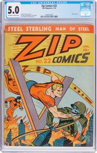 Zip Comics #22 (MLJ, 1942) CGC VG/FN 5.0 Off-white to white pages