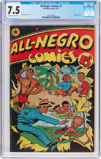 All-Negro Comics #1 (All-Negro Comics, 1947) CGC VF- 7.5 Cream to off-white pages