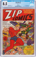 Golden Age (1938-1955):Superhero, Zip Comics #1 Windy City Pedigree (MLJ, 1940) CGC VF+ 8.5 Cream to off-white pages....