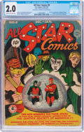 Golden Age (1938-1955):Superhero, All Star Comics #8 (DC, 1942) CGC GD 2.0 Cream to off-white pages....