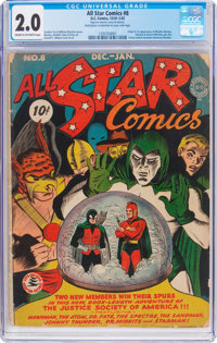 All Star Comics #8 (DC, 1942) CGC GD 2.0 Cream to off-white pages