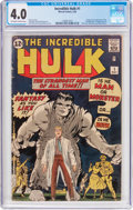 Silver Age (1956-1969):Superhero, The Incredible Hulk #1 (Marvel, 1962) CGC VG 4.0 Off-white to whitepages....