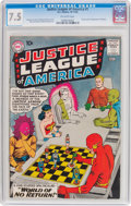 Silver Age (1956-1969):Superhero, Justice League of America #1 (DC, 1960) CGC VF- 7.5 Off-white pages....
