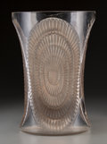 Art Glass:Lalique, R. Lalique Clear and Frosted Glass Los Angeles Vase withSepia Patina. Circa 1936. Stenciled R. LALIQUE, FRANC...