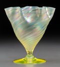 Art Glass:Steuben, Steuben Verre de Soie Glass Floriform Vase. Circa 1920. Ht. 6-7/8in. . ...