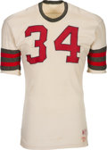 Football Collectibles:Uniforms, 1960's White Durene Game Worn Football Jersey....